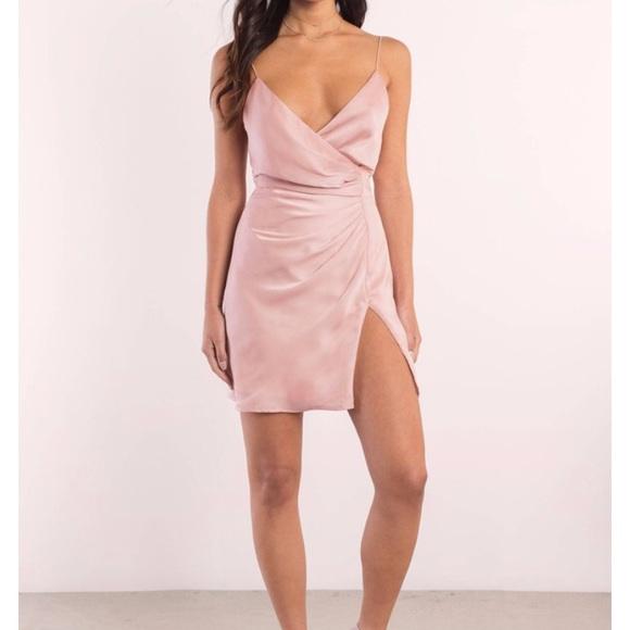 Tobi Dresses & Skirts - Krish Satin Wrap Dress